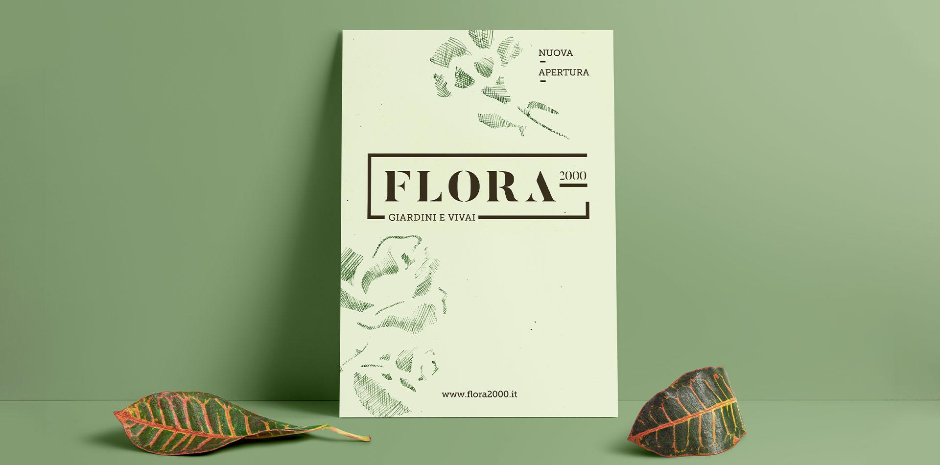 flora 2000 logo poster mockup-big